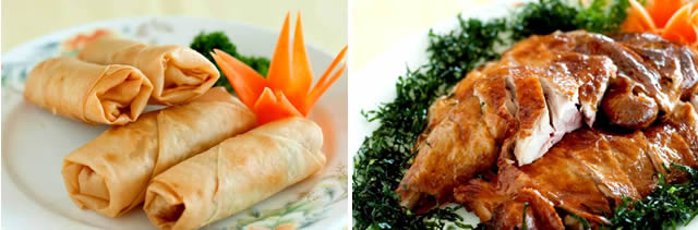 (3) spring rolls combined